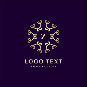 Luxury logo concept design letter (z) per il tuo marchio con decorazione floreale