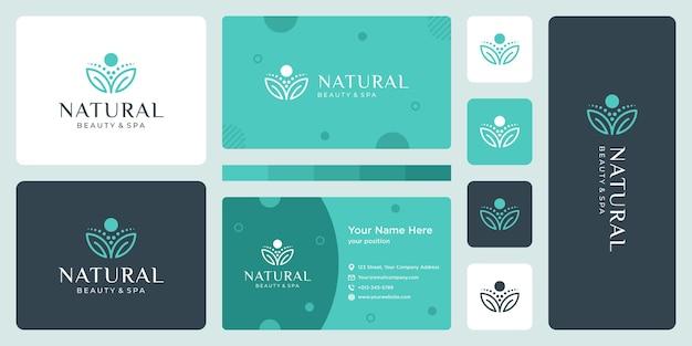 Concetto di design del logo di lusso, logo del fiore di loto, modello del logo di bellezza o spa