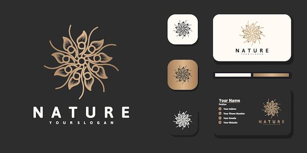 Fiore di design del logo di lusso per riferimento del marchio