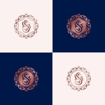 Modello di progettazione di logo di lusso