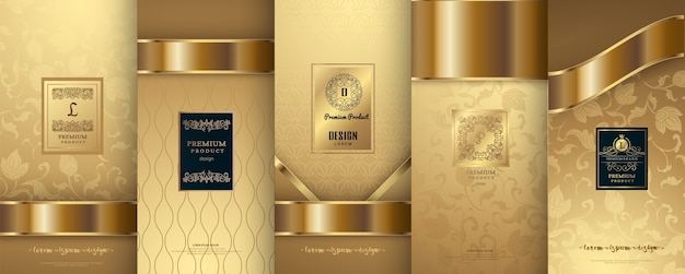 Logo di lusso e design del packaging in oro
