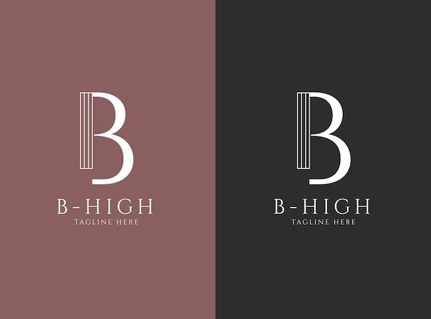 Design di lusso logo lettera b.