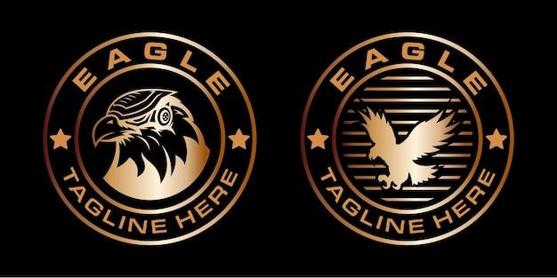 Logo di lusso con design di uccelli. perfetto per loghi, etichette, badge.