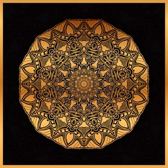 Arte di mandala di lusso con cerchio geometrico