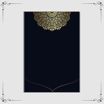 Sfondo mandala di lusso per copertina del libro, invito a nozze