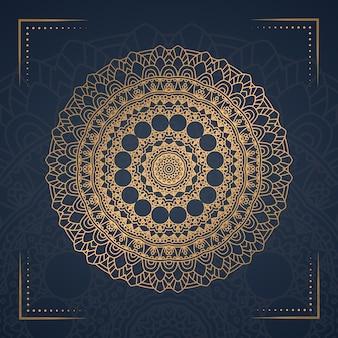 Mandala di lusso per la copertina del libro, invito a nozze.
