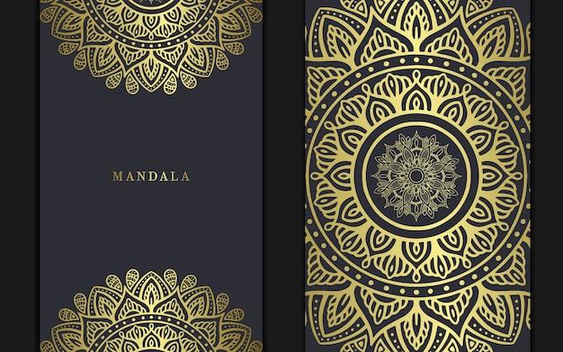Sfondo di mandala di lusso per la copertina del libro