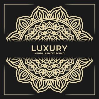 Ornamento di sfondo mandala di lusso