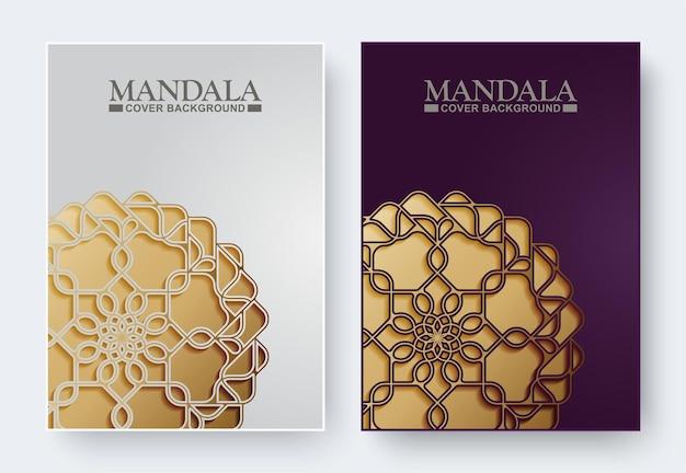 Copertina del libro mandala di lusso in oro