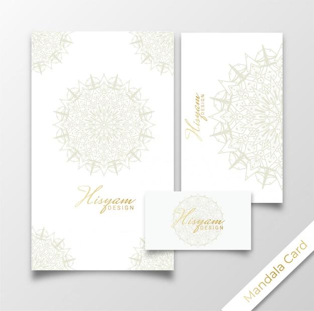 Concetto di lusso del modello di mandala card invitation