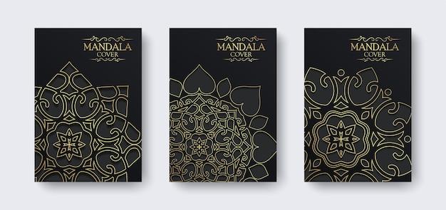 Cover mandala di lusso in colore scuro