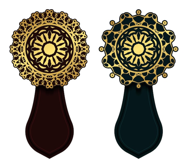 Banner decorativo mandala di lusso
