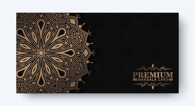 Carta decorativa mandala di lusso in colore oro