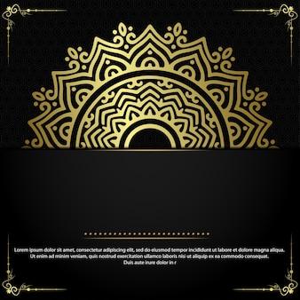 Carta etnica decorativa di lusso mandala
