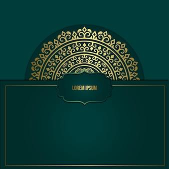 Fondo decorativo dell'elemento etnico della mandala di lusso