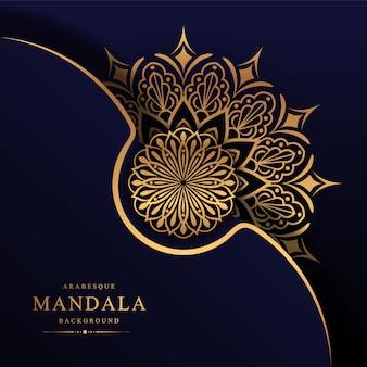Mandala di lusso decorativo elemento etnico sullo sfondo