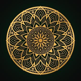 Sfondo islamico mandala di lusso