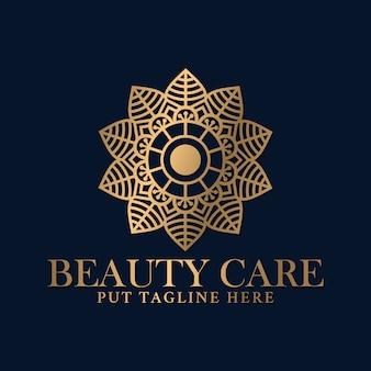 Modello di progettazione di logo mandala di lusso per beauty spa e attività di cura dei massaggi.