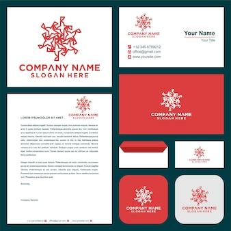 Vettore di design del logo mandala di lusso e decorazione premium per biglietti da visita