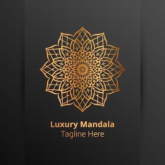Modello di logo di lusso mandala