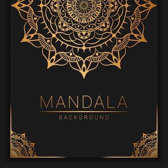 Mandala di lusso ornamentale con stile di copertina del libro