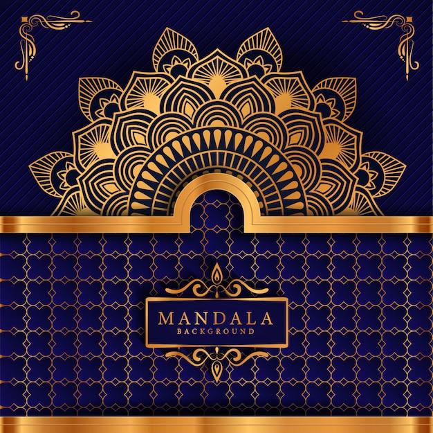 Mandala di lusso con motivo arabesco dorato