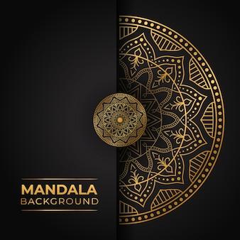 Mandala di lusso con sfumatura dorata