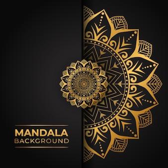 Mandala di lusso con tema della carta da parati
