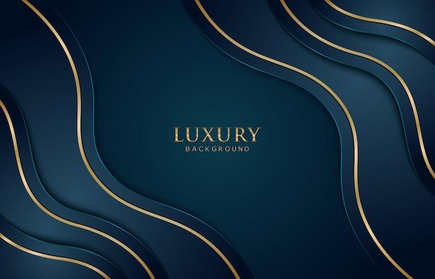 Sfondo oro blu metallizzato di lusso