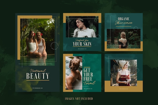 Modello instagram di lusso minimalista beauty spa