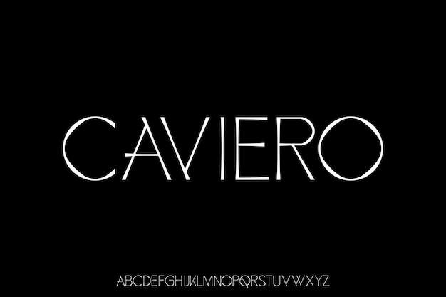 Set di testo alfabeto font moderno di lusso