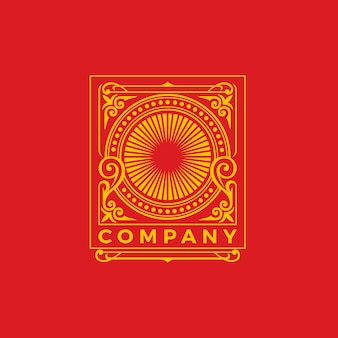 Modello di progettazione del logo dell'ornamento di lusso