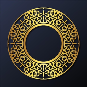 Disegno del cerchio del modello di ornamento di lusso