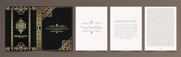 Design di copertina ornamentale di lusso