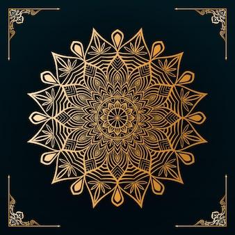 Design di mandala decorativi ornamentali di lusso con uno sfondo