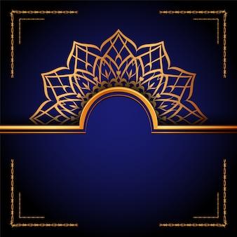 Sfondo di mandala ornamentale di lusso, stile arabesco.