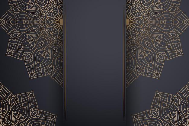 Sfondo mandala ornamentale di lusso in colore oro.