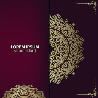 Sfondo di mandala ornamentale di lusso con stile arabo islamico orientale vettore premium