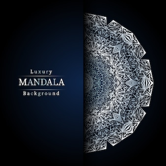 Mandala ornamentale di lusso design sfondo in colore oro, mandala di lusso per invito a nozze, copertina del libro.