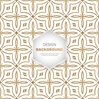 Design di lusso ornamentale mandala sfondo in colore oro