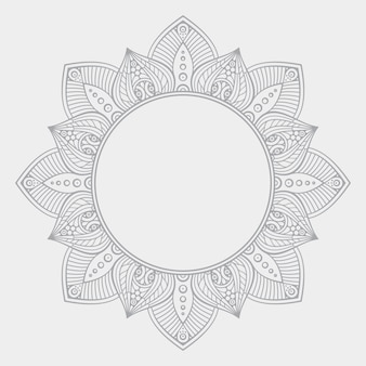 Priorità bassa di disegno della mandala ornamentale di lusso