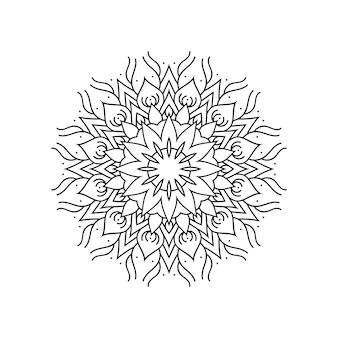 Design di mandala ornamentale di lusso