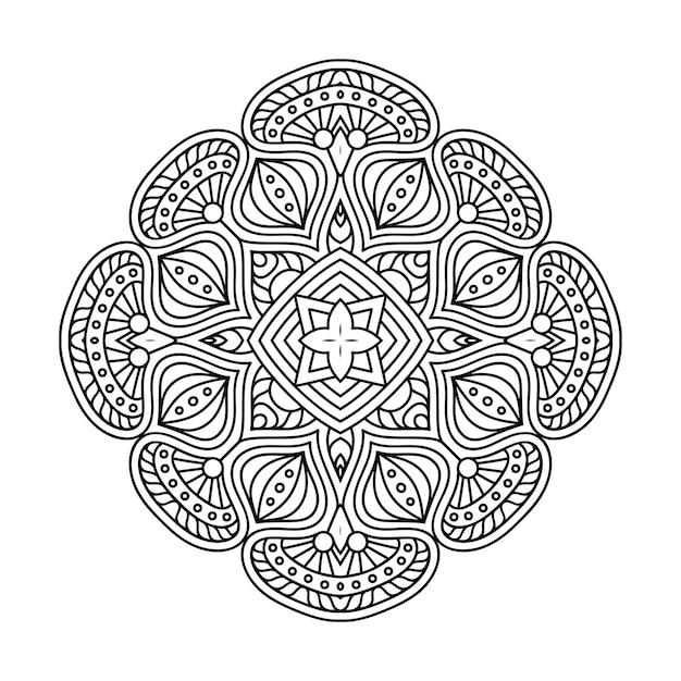 Illustrazione di mandala ornamentale di lusso