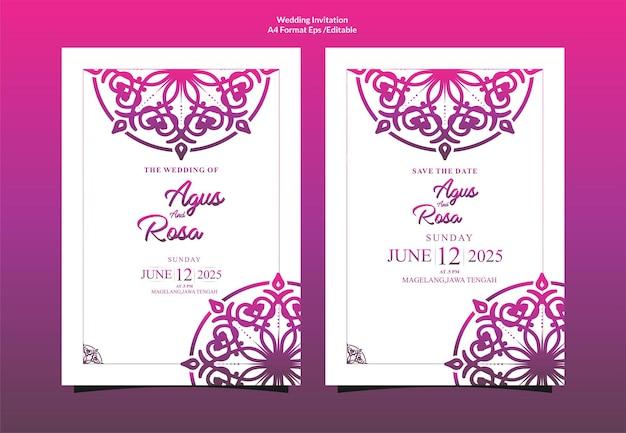 Invito a nozze mandala ornamentale di lusso