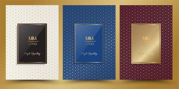 Pacchetto di lusso o design di copertura