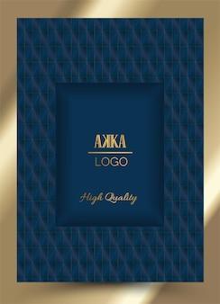 Luxury premium menu cover design geometric