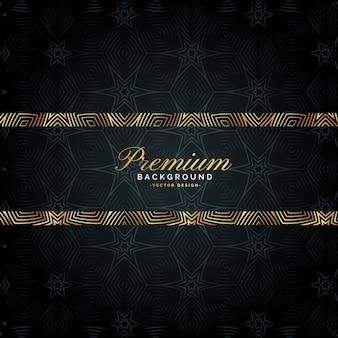 Design di lusso sfondo dorato di alta qualità