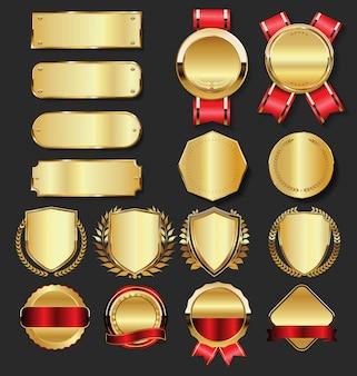 Distintivi d'oro premium di lusso