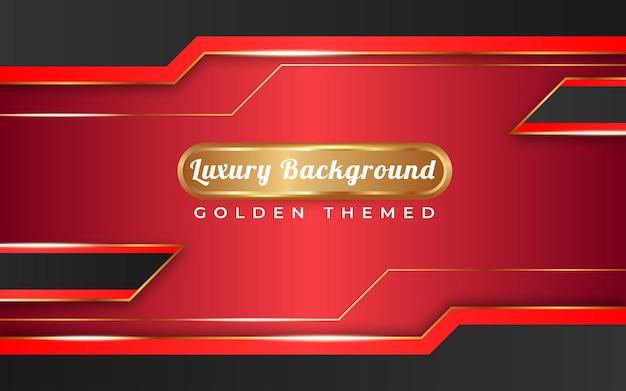 Tema dorato di sfondo rosso di lusso