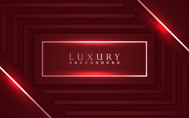Sfondo rosso di lusso con decorazioni dorate